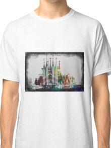 Painted Sagrada familia Classic T-Shirt