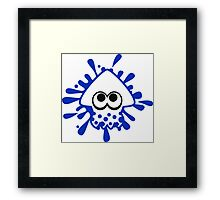 INKLING SQUID - BLUE Framed Print