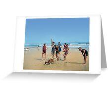 Bulldog at the Beach Greeting Card