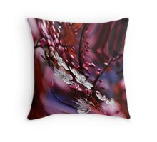 hipster nature zen Impressionism floral plum flower Throw Pillow