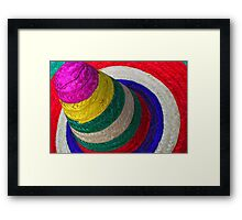 Rainbow Sombrero Framed Print