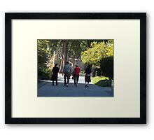 Chinese Sisters in Temple Square Framed Print