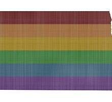 North Dakota Rainbow Gay Pride by surgedesigns