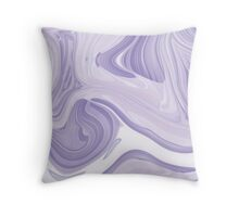 romantic girly marble pattern lilac purple swirls Throw Pillow