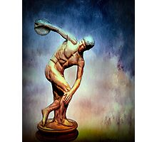 A Study of The Discus Thrower Photographic Print