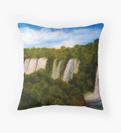 Iguazu Falls Throw Pillow