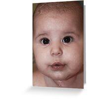 Baby Bath-time Greeting Card