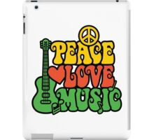Reggae Peace-Love-Music iPad Case/Skin