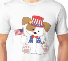 Cute Puppy Fourth of July Unisex T-Shirt
