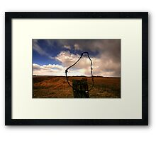 Ominous Prairie Skies Framed Print