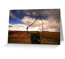 Ominous Prairie Skies Greeting Card