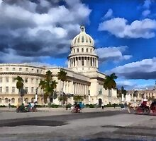 National Capitol Building, Havana, Cuba by Dennis Melling