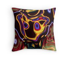 unique grunge cool abstract red hot rod flames Throw Pillow