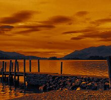 Sunset over Derwent Water by RodneyCleasby