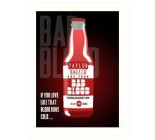 Taylor Swift's Bad Blood Bottle Advertisement Art Print