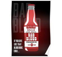 Taylor Swift's Bad Blood Bottle Advertisement Poster