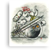Happy Sad Armor Canvas Print