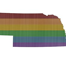 Nebraska Rainbow Gay Pride by surgedesigns