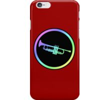 Colorful Trumpet Sign  iPhone Case/Skin