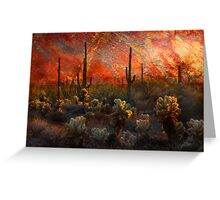 Desert Burn Greeting Card