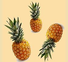 hipster summer girly cute pineapple pattern by lfang77