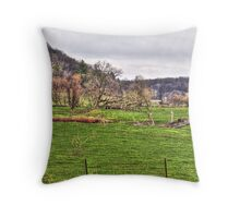 Lonely Pasture Throw Pillow
