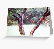 Two Masters Greeting Card