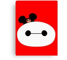 Baymax Head with Mickey Mouse Hat Canvas Print