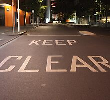 Keep Clear by Zoomantics
