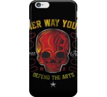DEFEND THE ARTS RED SKULL iPhone Case/Skin