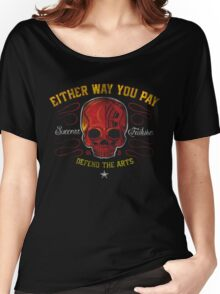 DEFEND THE ARTS RED SKULL Women's Relaxed Fit T-Shirt