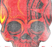 DEFEND THE ARTS RED SKULL Sticker