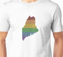 Maine Rainbow Gay Pride Unisex T-Shirt