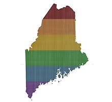 Maine Rainbow Gay Pride by surgedesigns