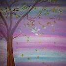 Colorful Autumn day acrylic painting by Melissa Goza