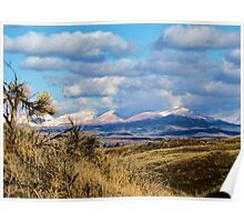 Desert Above Emmett Valley, Idaho Poster
