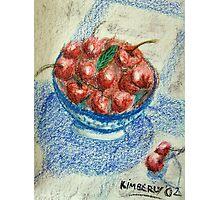 Bowl of Cherries Photographic Print