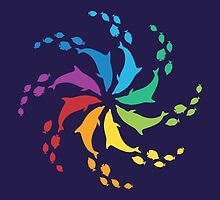 Color: Dolphin Rainbow Pinwheel by PepomintNarwhal