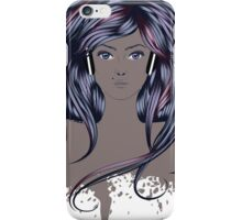 Woman with Long Hair iPhone Case/Skin