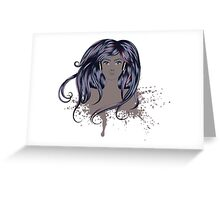 Woman with Long Hair Greeting Card