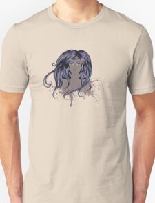 Woman with Long Hair Unisex T-Shirt