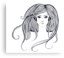 Woman with Long Hair2 Canvas Print
