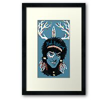 Noel Fielding: Blue Diamonds Framed Print