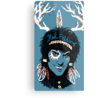 Noel Fielding: Blue Diamonds Metal Print