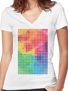 Polychromatic Women's Fitted V-Neck T-Shirt