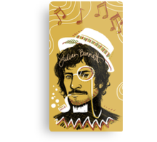 Julian Barratt: Gold Lion Metal Print