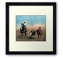 Steer Wrestling Framed Print