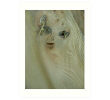the girl in the wood (resemblance) Art Print