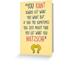 Hedwig, Kant & Nietzsche Greeting Card
