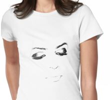 Modern Beauty (larger area covered/see thru) Womens Fitted T-Shirt